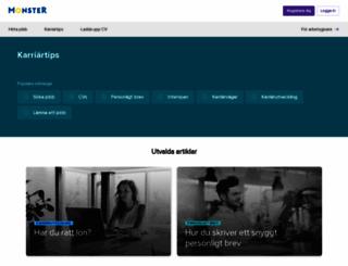 karriar-tjanster.monster.se screenshot