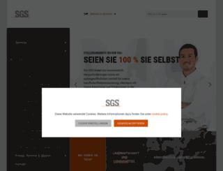 karriere.sgs.com screenshot