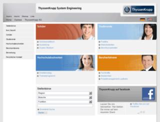 karriere.thyssenkrupp-systemengineering.com screenshot