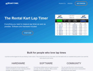 kart-timer.com screenshot