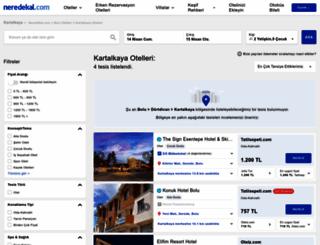 kartalkaya.neredekal.com screenshot