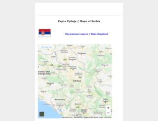 kartasrbije.googlepages.com screenshot