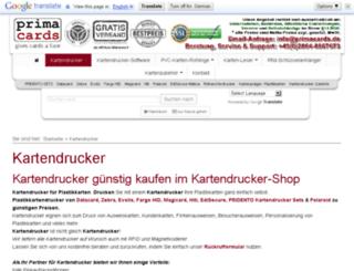 kartendrucker-verkauf.de screenshot