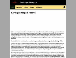 karthigaideepam.com screenshot