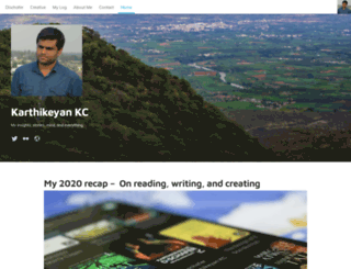 karthikeyankc.com screenshot