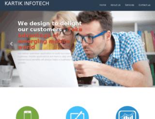 kartikinfotech.com screenshot