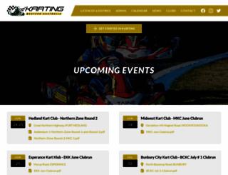 kartingwa.com.au screenshot
