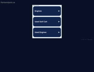 kartsandparts.ca screenshot