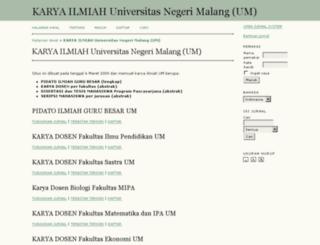 karya-ilmiah.um.ac.id screenshot