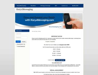 karyxmessaging.com screenshot