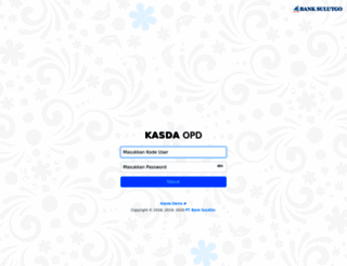 kasda.banksulutgo.co.id screenshot