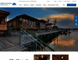 kashmirhouseboats.com screenshot