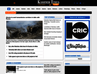 kashmirtimes.com screenshot