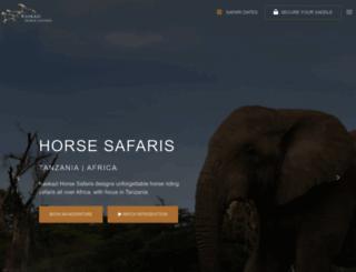 kaskazihorsesafaris.com screenshot