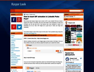 kasparlavik.blogspot.no screenshot