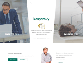kaspersky.be screenshot
