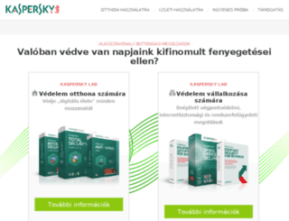 kaspersky.co.hu screenshot