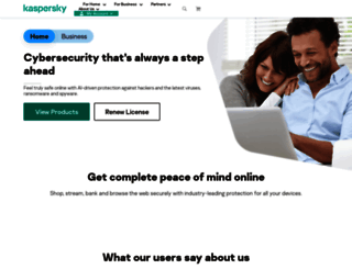 kaspersky.co.uk screenshot
