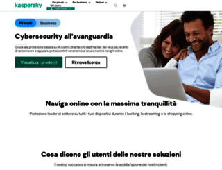 kaspersky.it screenshot