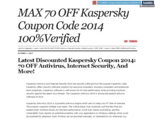 kasperskycouponcode2014.tumblr.com screenshot
