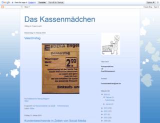 kassenmaedchen.blogspot.com screenshot