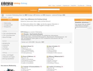 katalog-eintrag.de screenshot
