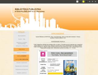 katalog.bibliotekabielany.waw.pl screenshot