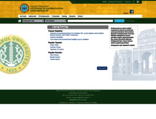 katalog.istanbul.edu.tr screenshot
