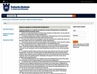 katalog.ka.edu.pl screenshot