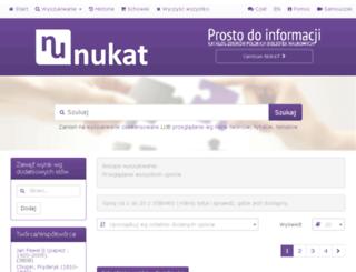 katalog.nukat.edu.pl screenshot