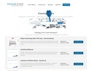 katalogstron.com.pl screenshot