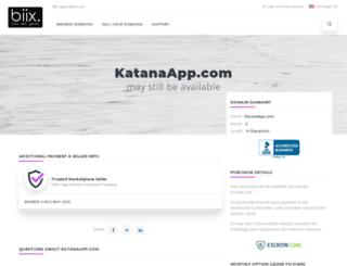 katanaapp.com screenshot
