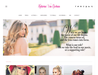 katarinavanderham.com screenshot