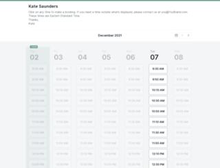 katesaunders.youcanbook.me screenshot