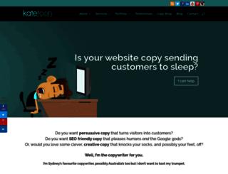 katetooncopywriter.com.au screenshot