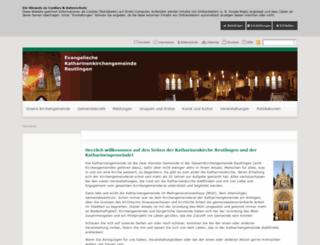 katharinenkirche-reutlingen.de screenshot