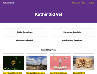 kathirvel.com screenshot