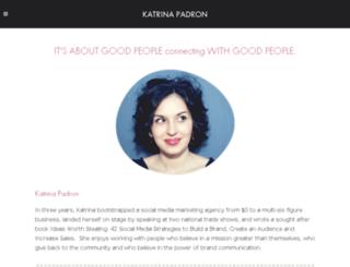 katrinapadron.com screenshot
