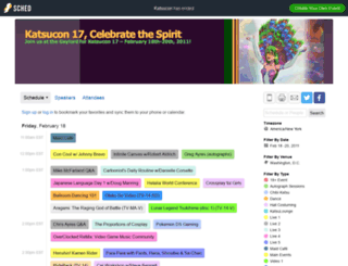katsucon2011.sched.org screenshot