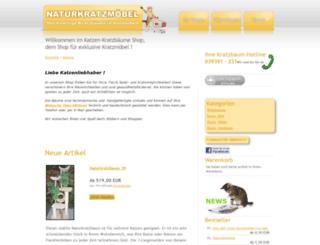katzen-kratzbaeume-shop.de screenshot