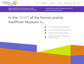 kauffman.bethelks.edu screenshot