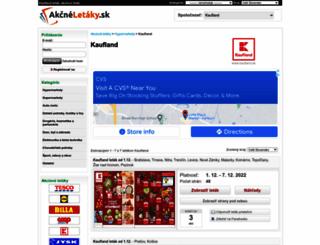 kaufland.akcneletaky.sk screenshot
