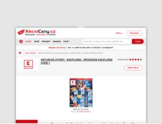 kaufland.akcniceny.cz screenshot