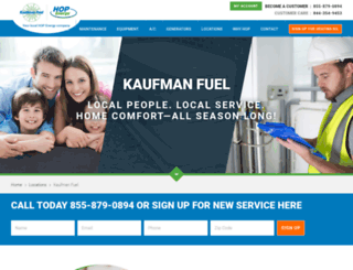 kaufmanfuel.com screenshot