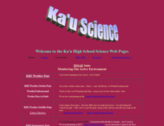 kauscience.k12.hi.us screenshot