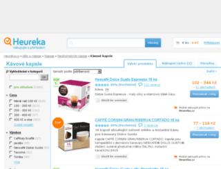 kavove-kapsle.heureka.cz screenshot