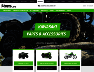 kawasakipartshouse.com screenshot