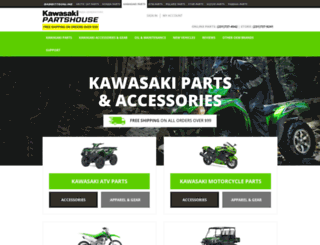 kawasakipartshouse.vnexttech.com screenshot