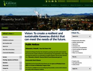 kaweraudc.govt.nz screenshot