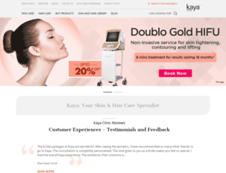 kayaclinic.com screenshot